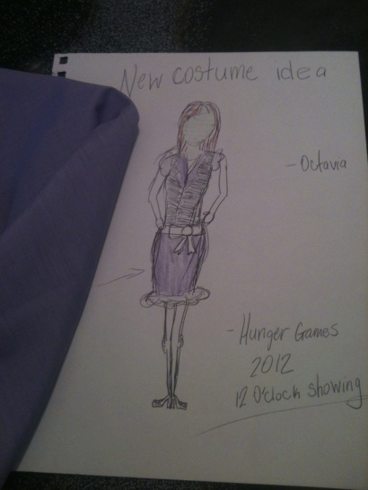 Hunger Games costume sketch