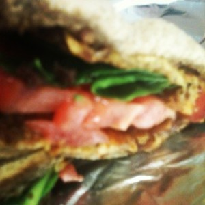 grilled cheese tomato spinach bacon