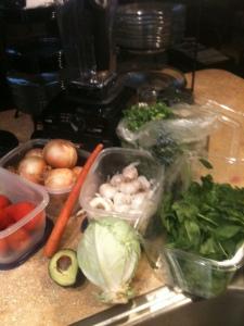Veggies for V-8 Guacamole Dip