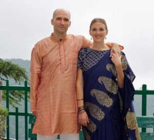 Bethany and Abe in Indian dress